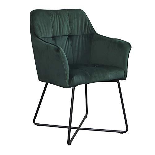 DuNord Design Stuhl Esszimmerstuhl Grün Mit Armlehne Industrie ...
