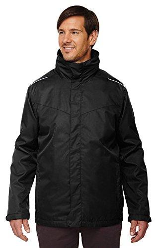 Ash City Core 365 Men's Tall Region 3-In-1 Fleece Liner Jacket, 3XT, Black 703