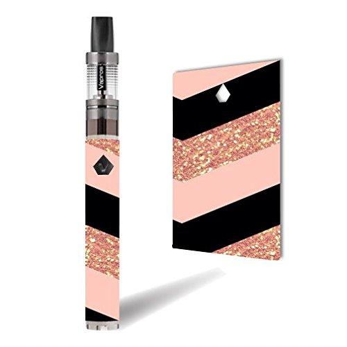 Vision Spinner 2 Vape E-Cig Mod Box Vinyl DECAL STICKER Skin Wrap / Pink Black Chevron (not real glitter)
