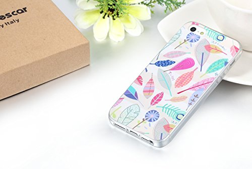 """JewelryWe """"Fly Together"""" bunte Blätter Blumen TPU Silikon Handy Case Schutzhülle Tasche Hülle Rückenschutzhülle Etui für Apple iPhone 5/5S mehrfarbig"""