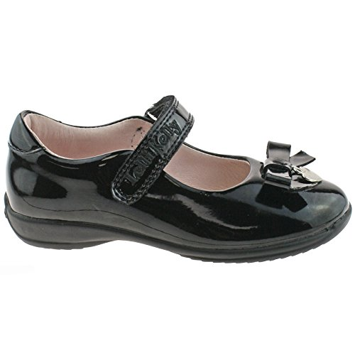 Lelli Kelly LK8215 (DB01) Georgia Black Patent School Shoes F Fitting-25 (UK 7)