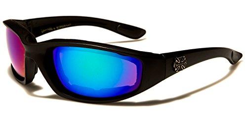 SDK blue Gafas Mirror hombre para Black SUNGLASSES sol Purple de ZqwgpCZ