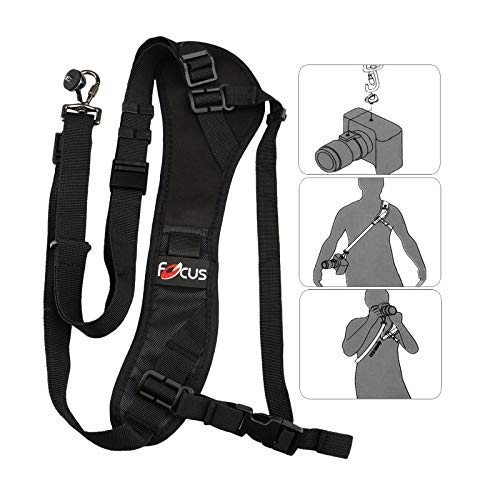 Price comparison product image Personal Camera Holder Universal Fast Shooting Shoulder Carry Sling Belt Neck Strap Length Adjustable for SLR DSLR Camera ST-R13