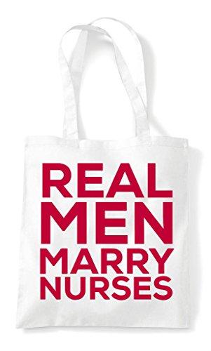 Real Nurses Tote Man Marry Shopper Bag White 88wT1pq