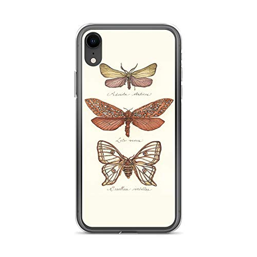 iPhone XR Case Anti-Scratch Creature Animal Transparent Cases Cover Marvina's Moths Animals Fauna Crystal Clear