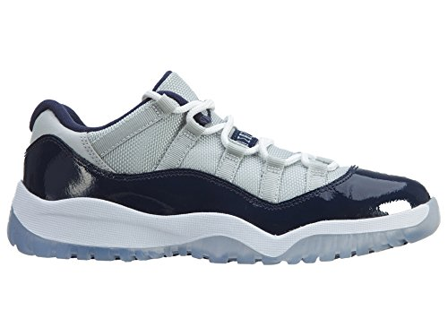 Nike Jordan 11 Retro Low BP, Zapatillas de Deporte para Niños Gris / Blanco / Azul (Grey Mist / White-Midnight Navy)