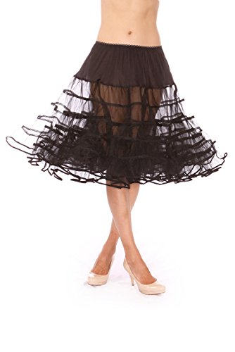 - Malco Modes Meghan Knee Length Net Crinoline for Stiff Structured Support under Vintage Clothing and Rockabilly Wear