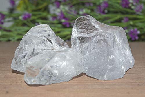 (FASHIONZAADI Rough Raw Satyaloka Quartz Crystal Stone Gems Material for Gemstone Energy Rock Supplies Reiki Healing Tumbling Cabbing Polishing Wire Wrapping (1/4 LB))