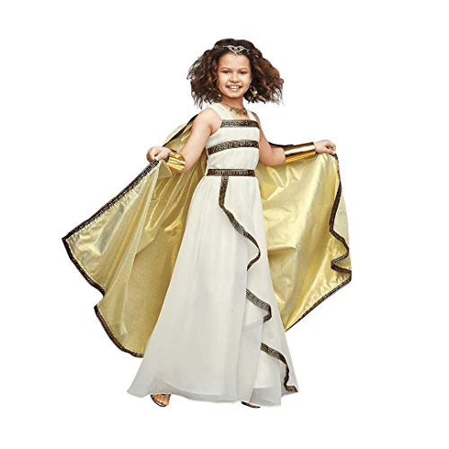 CHASING FIREFLIES Greek Goddess Costume For Girls (Includes Goddess Circlet & Coin Necklace & Earrings & Armbands) ()