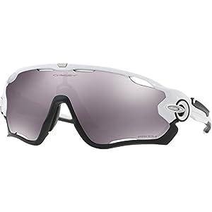 Oakley Men's Jawbreaker Non-Polarized Iridium Rectangular Sunglasses, Polished White, 31.02 mm