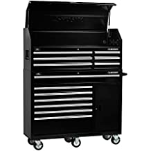 Heavy-duty, Drawer 13 Tool Chest 52 In. and Rolling Tool Cabinet Set, Black, Offers Unique Storage for your Longer Items and The Deep Cabinet Drawers Include Double 100 lbs by Husky