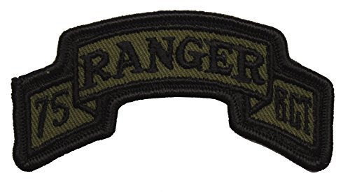 75th Ranger Regiment Scroll Patch Subdued 75th Ranger Regiment Patch