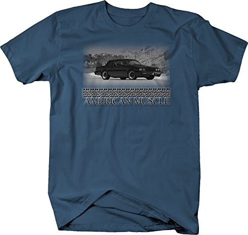 Retro American Muscle Buick Grand National GNX Turbo Muscle T Shirt for Men 2XL Denim Blue