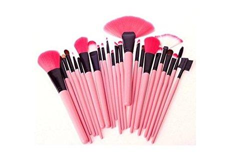 Makeup Brush Set Professional Wood Handle Premium Synthetic Kabuki Foundation Blending Blush Concealer Eye Face Liquid Powder Cream Cosmetics Lip Brush Tool Brushes Kit. - Lola Powder Brush
