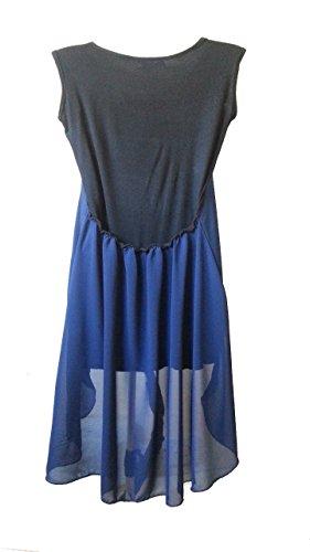 Robe Taille Une Noir La Été Asymétrique 42 Mousseline Ou Soie Top De Aimerfeel 40 Bleu En TwvO7Pq