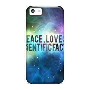 New Snap-on Jthicks Skin Case Cover Compatible With Iphone 5c- Peace Love Science