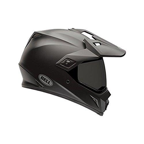Mens Dirt Bike Motorcycle Helmets - Bell Solid Men's MX-9 Adventure Dirt Bike Motorcycle Helmet - Matte Black/Medium