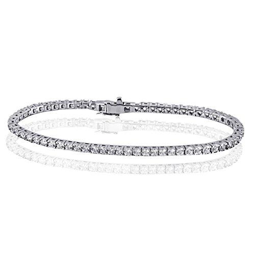 Goldmaid - Bracelet tennis - Argent 925/1000 - 67 Oxydes de Zirconium Swarovski - 19 cm - Me A6983S