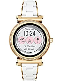 Access, Women's Smartwatch, Sofie Gold-Tone Stainless Steel with White Silicone, MKT5039