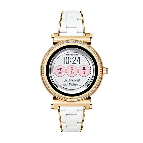 Michael Kors Access, Women's Smartwatch, Sofie Gold-Tone Stainless Steel with White Silicone,...