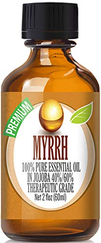 Myrrh Essential Oil - 100% Pure in Jojoba (40%/60% Ratio) Best Therapeutic Grade - 60ml by Healing Solutions