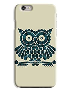 Blue Wide Eyed Owl iPhone 6 Case
