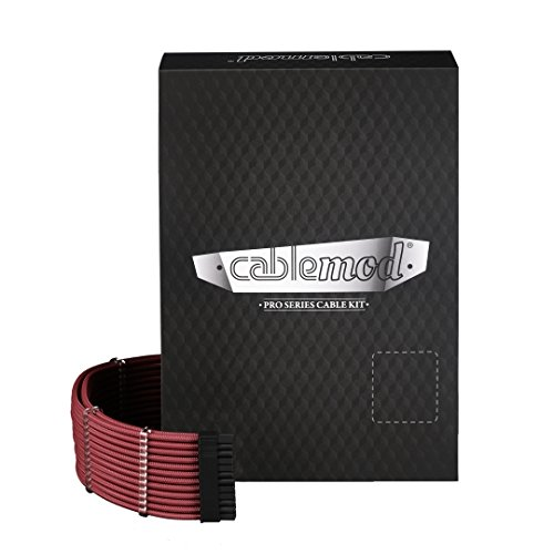 (CableMod PRO ModMesh C-Series RMi & RMX Cable Kit (Blood Red))