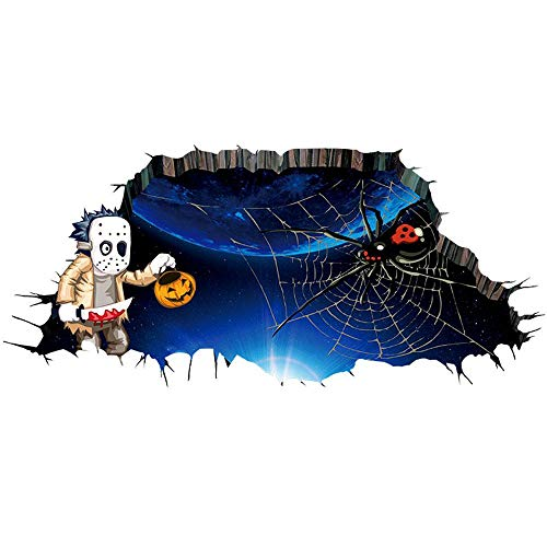 Aolvo 3D Wall Stickers 2018 Halloween, Decoration Wallpaper