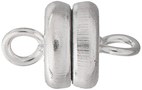 Beadaholique Silver Plated Magnetic Clasps (Set of 4), 6 x 4.5mm