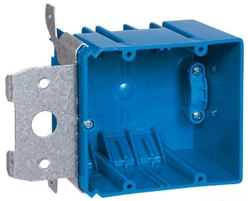 Carlon B234ADJC Outlet Box, 2 Gang, New Work, 5-5/8-Inch Width by 3-Inch Depth by 3-5/8-Inch Height, Blue by Thomas & Betts