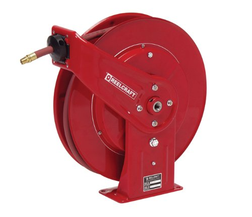 (Reelcraft 7800 OMP Heavy Duty Spring Retractable Hose Reel, 50' Oil Hose Not Included)