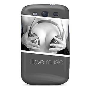 New Arrival WkVQYpA4500suVcX Premium Galaxy S3 Case(i Love Music)