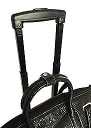 Trendy Flyer Computer/laptop Large Bag Tote Duffel Rolling 4 Wheel Spinner Luggage Brown Croc