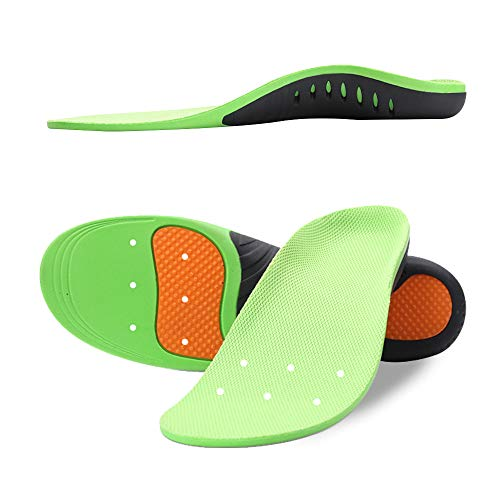 Snapsmile Medical Grade Plantar Fasciitis Inserts - Arch Support Shoe Inserts Women Man Doctor Recommends Professional Orthotic Inserts for Plantar Fasciitis High Arch Support Gel Flat Feel Insoles, M