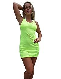 Ingear Racerback Tank Dress Summer Fashion Casual Beachwear Cover Up