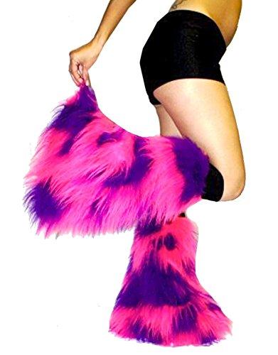 Neon UV Legwarmers (Pink/Purple) [Apparel] (Pink Fluffies Leg Warmers)
