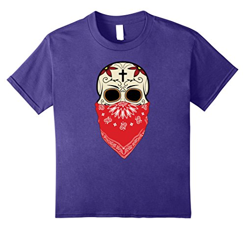 Hear No Evil Speak No Evil See No Evil Costumes (Kids Speak No Evil Sugar Skull T-Shirt Halloween Day Of The Dead 12 Purple)