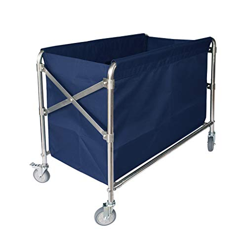 - Hotel Service Car Folding Linen Car Hotel Trolley Thick Stainless Steel Cleaning Car (Color : B)