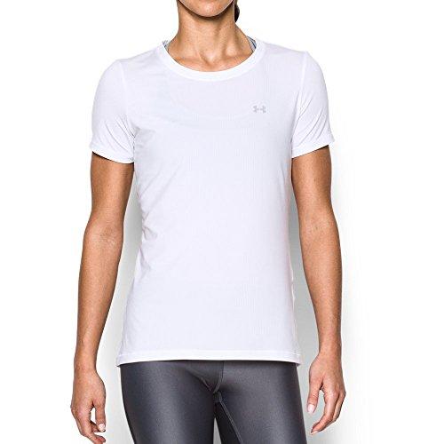 Under Armour Womens HeatGear Armour Short Sleeve, White (100), Small