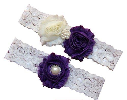 Wedding Eggplant Chiffon Flowers Rhinestone product image