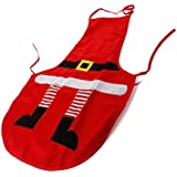 Adult Christmas Apron - Home Kitchen Xmas Cooking Party Aprons Gift (Red) by ZOGIN