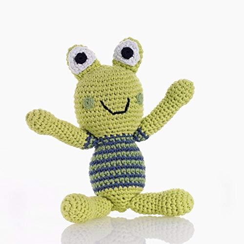 PEBBLE Boy Frog Rattle, 1 EA