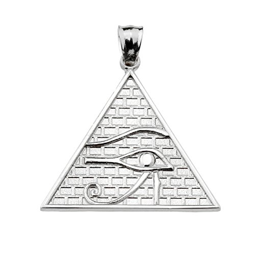 10 ct 471/1000 Or Blanc Horus- Pendentif (13 Stufen) Pendentif