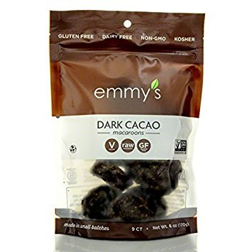Emmys, Cookies Organic Dark Cacao Coconut, 6 Ounce