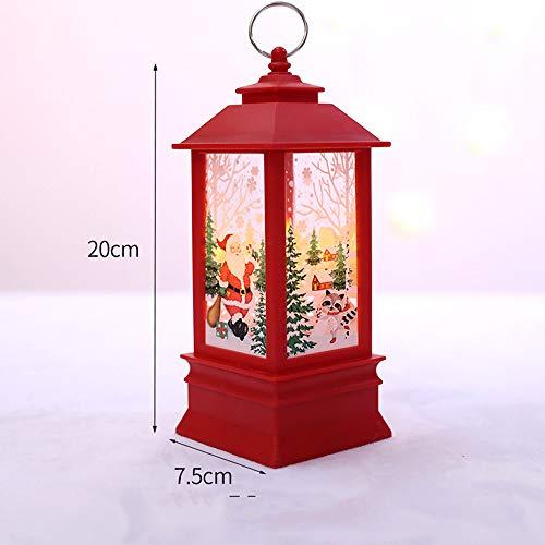 (Christmas LED Candle Lantern, Decorative Candle Lanterns Vintage Flameless LED Lanterns Outdoor&Indoor Hanging Lantern Christmas Tree, Santa, Angel, Snowman (D))