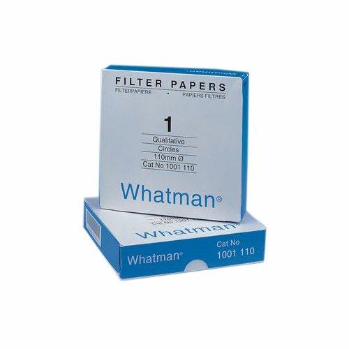 Whatman 4712B20PK 1001070 Quantitative Filter Paper Circles, 11 μm, 10.5 s/100 ml/sq in Flow Rate, Grade 1, 70 mm Diameter (Pack of 100) ()