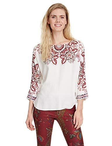 Desigual Blouse LUMBE Blusa, Blanco (Blanco 1000), XS para Mujer: Amazon.es: Ropa y accesorios