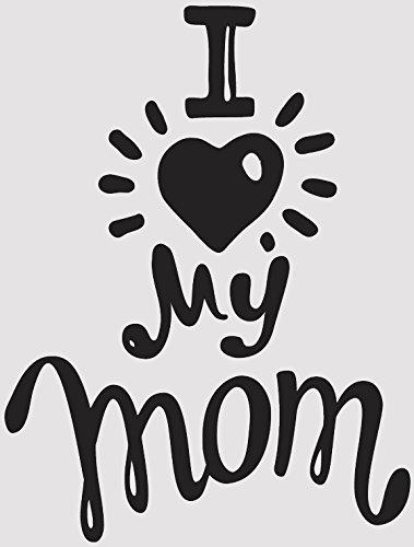Amazon Com Cute Simple Mothers Day Cartoon Icon Vinyl Sticker 4