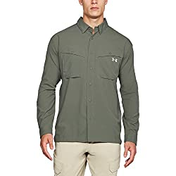 Under Armour Outerwear Men's Tide Chaser Long Sleeve Shirt, Moss Greensteel, Large
