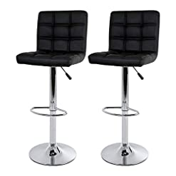 Kitchen BestOffice Set of 2 Barstools Modern Bar Stool PU Leather Height Adjustable Counter Height Swivel Bar Stool Bar Chairs… modern barstools